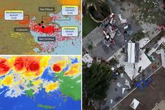 Βίντεο: Η φονική θεομηνία «εξαφάνισε» από το δορυφόρο τα δύο πόδια της Χαλκιδικής