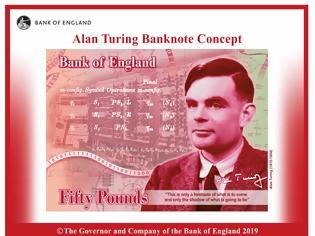 Φωτογραφία για Δικαίωση για τον Alan Turing – Θα απεικονίζεται στο χαρτονόμισμα των 50 στερλινών Πηγή: Protagon.gr