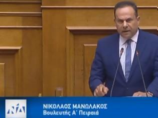 Φωτογραφία για Εντυπωσιακή η πρώτη ομιλία στη Βουλή του Στρατηγού Νίκου Μανωλάκου