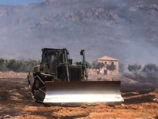 Φωτογραφία για Συνδρομή του Στρατού Ξηράς στις πυρκαγιές σε Ελαφόνησο και Υμηττό (εικόνες)