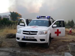 Φωτογραφία για Ο Ελληνικός Ερυθρός Σταυρός στις φωτιές της Εύβοιας