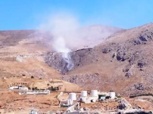 Φωτογραφία για Δεν είναι ηφαίστειο... είναι καύση σκουπιδιών σε χωματερή  της Καλύμνου!