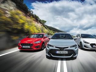 Φωτογραφία για Ford Focus 1.0 EcoBoost VS Hyundai i30 1.0T VS Toyota Corolla 1.2T
