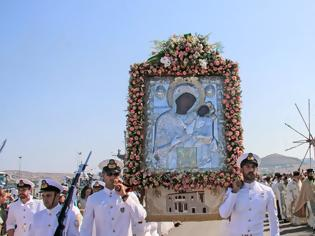 Φωτογραφία για Με λαμπρότητα ο εορτασμός της Κοίμησης της Θεοτόκου στην Παναγία την Εκατονταπυλιανή