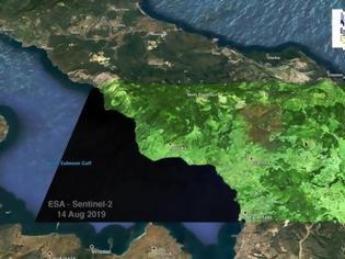 Φωτογραφία για Εύβοια: Θλίψη από την εικόνα δορυφόρου! 23.000 στρέμματα στάχτης!