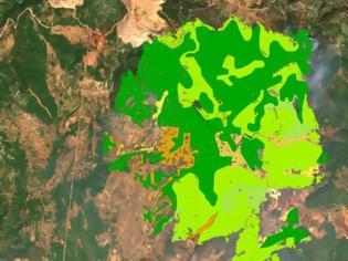 Φωτογραφία για Φωτιά στην Εύβοια: O «μαύρος» χάρτης της καταστροφής
