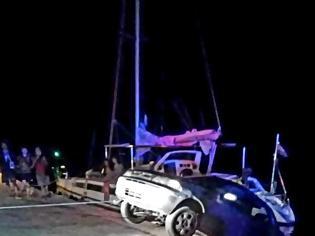 Φωτογραφία για Tροχαίο κοντά στην πλωτή γέφυρα της Λευκάδας: Σώθηκαν από θαύμα…