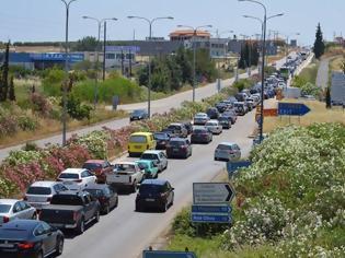 Φωτογραφία για Κυκλοφοριακό κομφούζιο στην Εθνική Οδό Θεσσαλονίκης – Νέων Μουδανιών εξαιτίας καραμπόλας