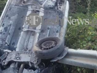 Φωτογραφία για Τρομακτικό τροχαίο ατύχημα: Αυτοκίνητο «καρφώθηκε» πάνω σε μπάρα