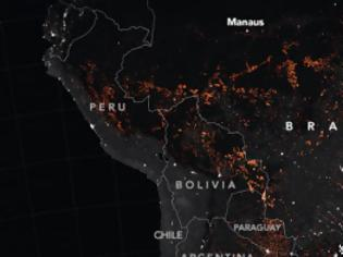 Φωτογραφία για Αμαζόνιος: Το μέγεθος της καταστροφής όπως το αποτύπωσε η NASA