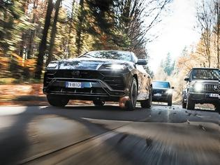 Φωτογραφία για Lamborghini Urus VS Mercedes-AMG G63 VS Range Rover 5.0 V8 SC