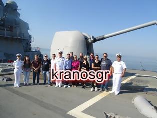Φωτογραφία για Φωτό από την ξενάγηση δημοσιογράφων στο Αντιτορπιλικό USS McFaul