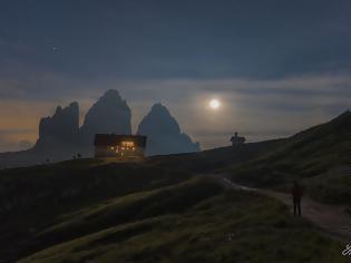 Φωτογραφία για The Moon and Jupiter over the Alps