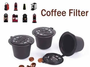 Φωτογραφία για Nespresso  Επαναγεμιζόμενη Συμβατη  Κάψουλα με όλες τις καφετιέρες Nespresso