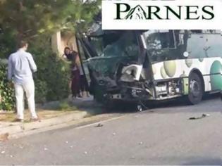 Φωτογραφία για Σοβαρό τροχαίο με λεωφορείο - Τραυματίας ο οδηγός