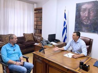 Φωτογραφία για Με τον πατέρα της οκτάχρονης Αλεξίας συναντήθηκε ο Υπουργός Υγείας Βασίλης Κικίλιας