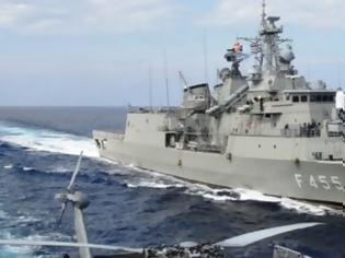 Φωτογραφία για Σκηνικό σύγκρουσης σε Αιγαίο-Α. Μεσόγειο: Μεγάλη συγκέντρωση ναυτικών δυνάμεων – Φρεγάτα & υποβρύχιο του ΠΝ στο Καστελόριζο