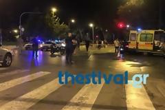 Μετωπική σύγκρουση με δέκα τραυματίες έξω από τη Θεσσαλονίκη