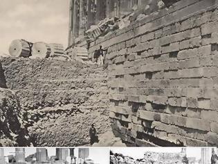 Φωτογραφία για Τα θεμέλια του Παρθενώνα κατά τη μεγάλη ανασκαφή το 1888/ The foundations of the Parthenon 1888.