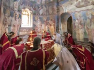 Φωτογραφία για 12720 - Φωτογραφίες πανηγυρικής Θείας Λειτουργίας στην εορτάζουσα Βατοπαιδινή Σκήτη του Αγίου Δημητρίου