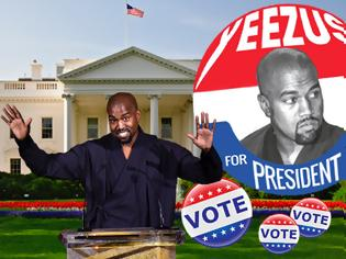 Φωτογραφία για Η άχρηστη πληροφορία της ημέρας  - Κanye West: Αλλάζει όνομα, θέλει να είναι υποψήφιος πρόεδρος