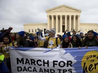 Φωτογραφία για «Είμαστε όλοι ονειροπόλοι», φώναξαν μετανάστες - Διαδήλωση κατά της σκληρής στάσης του Τραμπ