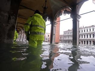 Φωτογραφία για Βενετία: Κλείνει ξανά η ιστορική πλατεία Αγίου Μάρκου - Συνεχίζονται οι ακραίες πλημμύρες
