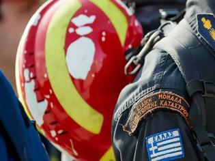 Φωτογραφία για Τιμητική υποδοχή της ελληνικής αποστολής πυροσβεστών της ΕΜΑΚ που επέστεψε από την Αλβανία
