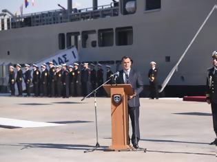 Φωτογραφία για Παρουσία ΥΕΘΑ Νικόλαου Παναγιωτόπουλου στην τελετή ονοματοδοσίας - εντάξεως του πλοίου Γενικής Υποστήριξης «ΑΤΛΑΣ-1» στο Πολεμικό Ναυτικό