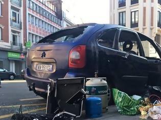Φωτογραφία για Γαλλία: Εντοπίστηκε αυτοκίνητο με φιάλες αερίου