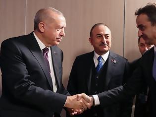 Φωτογραφία για Ολοκληρώθηκε χωρίς δηλώσεις η συνάντηση Μητσοτάκη - Ερντογάν
