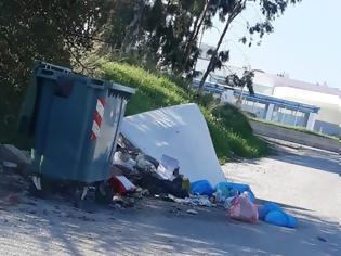 Φωτογραφία για Ασυνείδητοι πετούν σκουπίδια εκτός κάδων στα Ασγούρου -φώτο