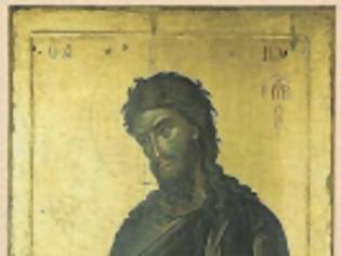 Φωτογραφία για 12987 - Ιωάννης ο Πρόδρομος από το αρχαίο εικονοστάσιο του τέμπλου του Ναού του Πρωτάτου