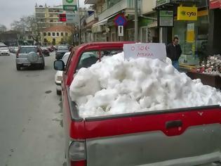 Φωτογραφία για Απίστευτο και όμως αληθινό: Πωλείται χιόνι στην Ξάνθη