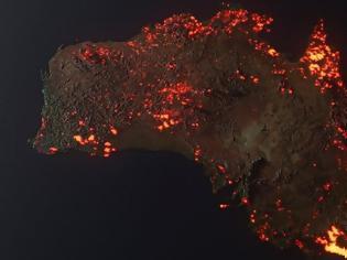 Φωτογραφία για Η αλήθεια για τον χάρτη με τις φωτιές στην Αυστραλία που έχει γίνει viral