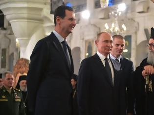 Φωτογραφία για Viral βίντεο: Όταν Άσαντ και Πούτιν «κράζουν» τον Τραμπ εντός εκκλησίας