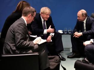 Φωτογραφία για Διάσκεψη για τη Λιβύη: «Παγωμάρα» ανάμεσα σε Τζόνσον - Πούτιν