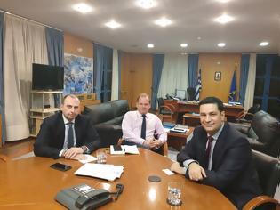 Φωτογραφία για Συνάντηση με τον Υπουργό Υποδομών  και Μεταφορών  Κώστα Καραμανλή είχε ο Δήμαρχος Αγρινίου Γιώργος Παπαναστασίου.