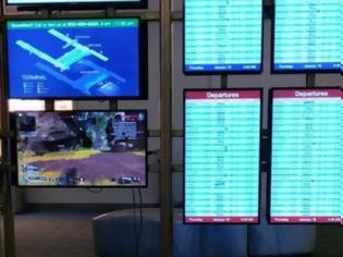 Φωτογραφία για Μερακλής αποσύνδεσε οθόνη σε αεροδρόμιο για να παίξει PlayStation (pic)