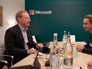 Φωτογραφία για O Μητσοτάκης με τον πρόεδρο της Microsoft - Συζήτησαν για Data Center στην Ελλάδα