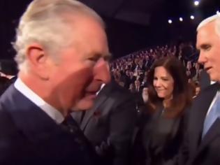 Φωτογραφία για viral βίντεο που «άναψε φωτιές»: Σνόμπαρε ο πρίγκιπας Κάρολος τον Μάικ Πενς σε εκδήλωση;