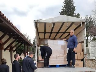 Φωτογραφία για Παραδόθηκε στην Αλβανία η  ανθρωπιστική βοήθεια του Δήμου Αγρινίου
