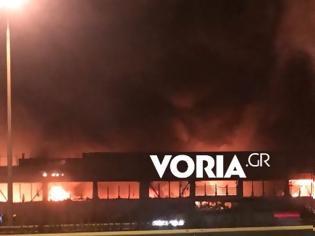 Φωτογραφία για Μεγάλη φωτιά σε εταιρεία γεωργικών μηχανημάτων