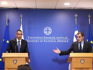 Φωτογραφία για Συμμετοχή ΥΕΘΑ κ. Νικολάου Παναγιωτόπουλου και ΥΠΑΜ Κύπρου κ. Σάββα Αγγελίδη στο 6ο Διακυβερνητικό Συμβούλιο Άμυνας Ελλάδας – Κύπρου