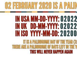 Φωτογραφία για 2 Φεβρουαρίου 2020: μια ξεχωριστή παλινδρομική ημερομηνία