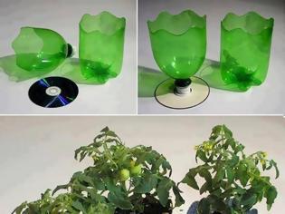 Φωτογραφία για ΚΑΤΑΣΚΕΥΕΣ - Πήρε παλιά CD και άδεια Πλαστικά Μπουκάλια … το Αποτέλεσμα Καταπληκτικό!!