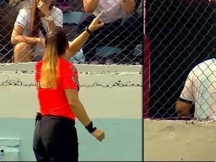 Φωτογραφία για Γυναίκα διαιτητής απέβαλε φίλαθλο που την έβρισε!