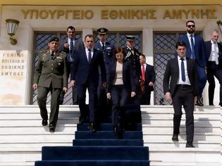 Φωτογραφία για Συνάντηση ΥΕΘΑ κ. Νικόλαου Παναγιωτόπουλου με την Υπουργό Άμυνας της Γαλλικής Δημοκρατίας κ. Φλωράνς Παρλύ