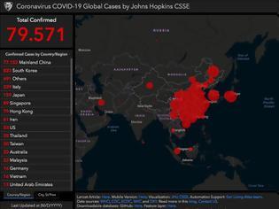 Φωτογραφία για 2629 οι θάνατοι από τον κοροναϊό. Οι χώρες και οι περιοχές που πλήττονται στις 25/2