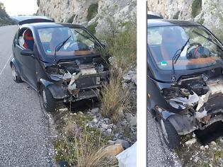 Φωτογραφία για ΜΥΤΙΚΑΣ: Τροχαίο ατύχημα στο Δρόμο Μύτικας-Αστακός (στο ύψος Αγριλιάς) - [ΦΩΤΟ]